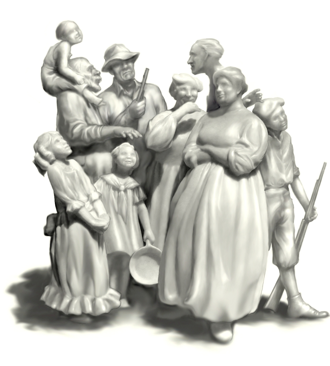 White Family, Lynching Sequence, porcelaine