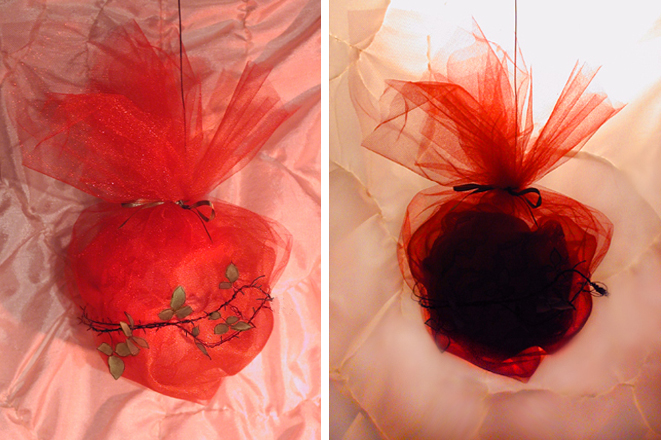 Strange Fruit, Lynching Sequence, Remus Reconstruction, tulle, wire, paper