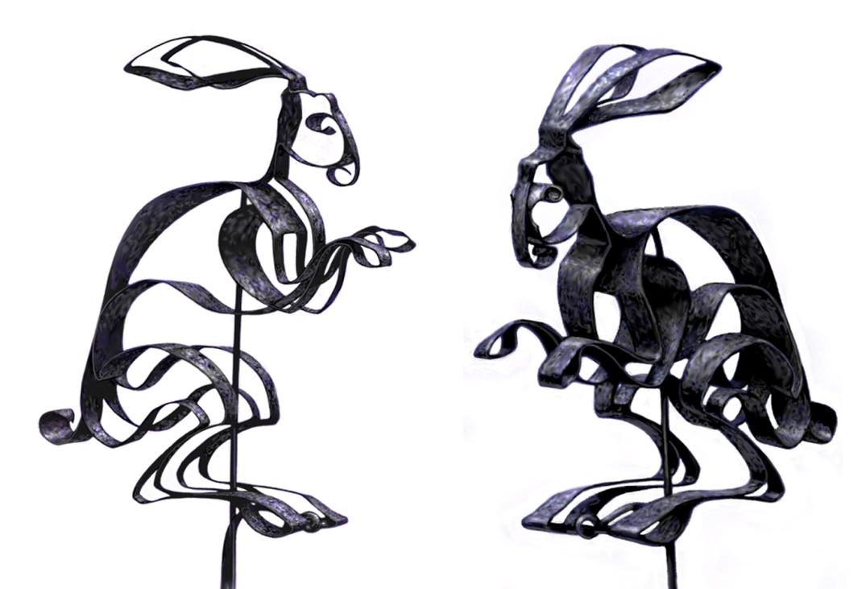 Iron Rabbit Puppets