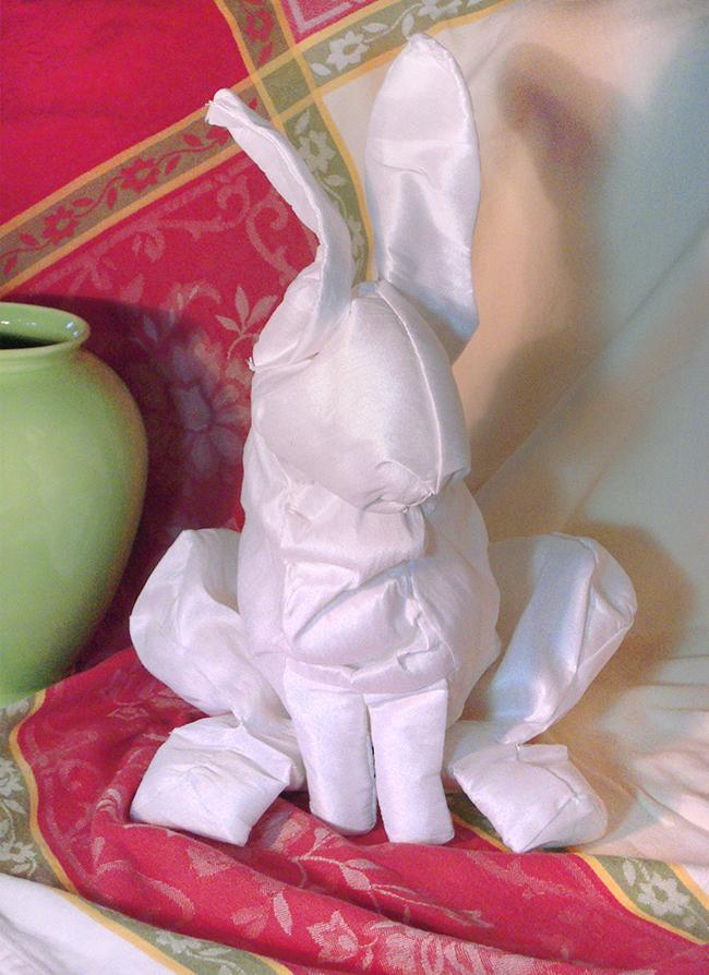 334 Bunnies; A Chamber Opera, prop bunny (balloon-filled puppet)