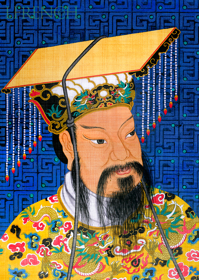 Chinese Physician, Syntex Pharmaceuticals, direct mail, gouache