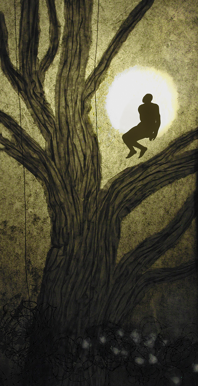 Man in the Moon, Slavery Sequence, Remus Reconstructed, shadow theater tableau