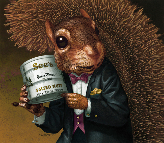 Squirrel About Town, See's Candies, digital