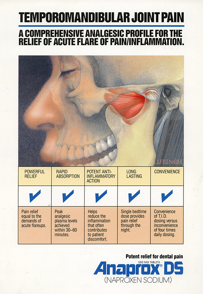 Temporomandibular Joint, for Anaprox pain reliever brochure